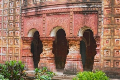 Pancharatna Govinda Temple in Puthia, Bangladesh.