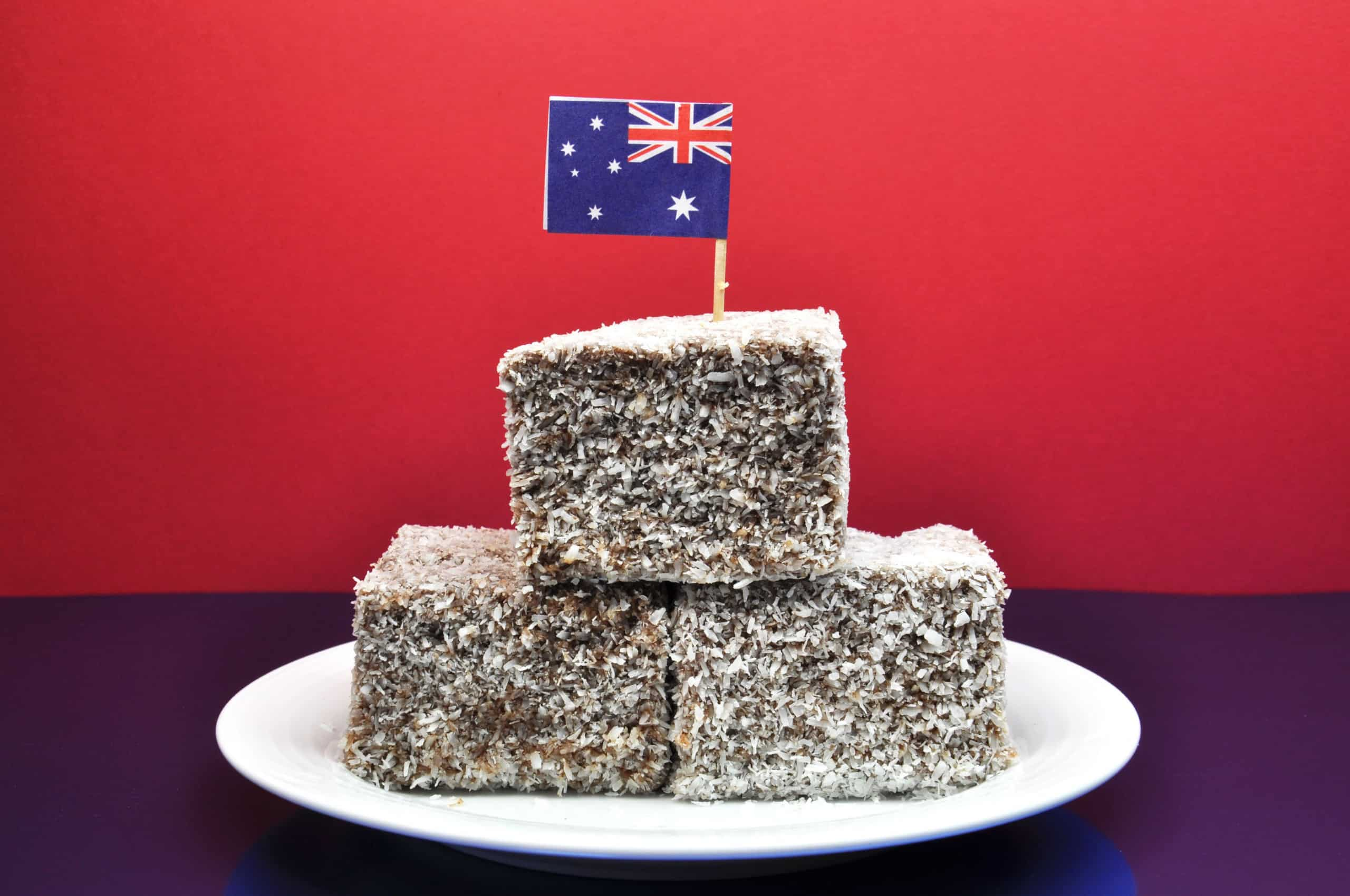Australia Day January 26, celebrate with tradional Aussie tucker food such as lamingtons, meat pies and tomato sauce, and yummy fairy bread.