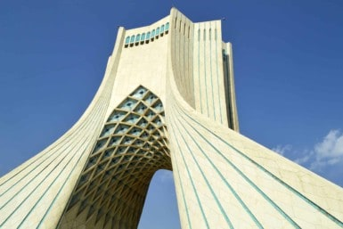 Azadi tower symbols of Tehran City, Iran