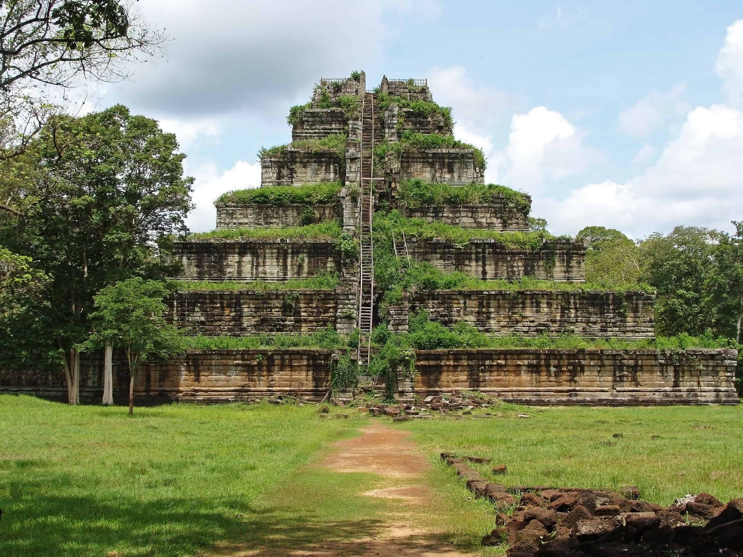 Ancient temple complex Ko Ker of Cambodia.