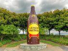 PAEROA, NEW ZEALAND - DECEMBER, 2017: Lemon and Paeroa famous beverage bottle statue