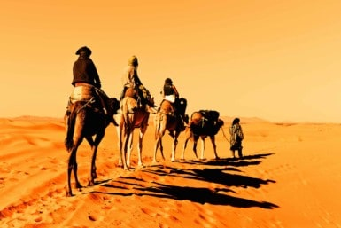 Retrace the old Arabian caravan routes