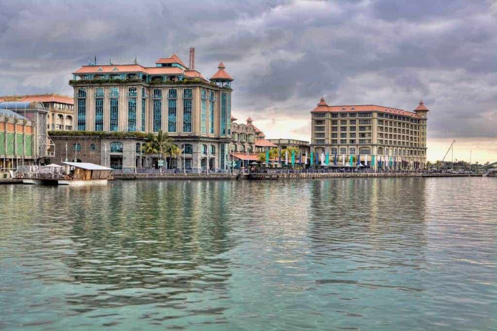 Waterfront in Port Louis, Mauritius