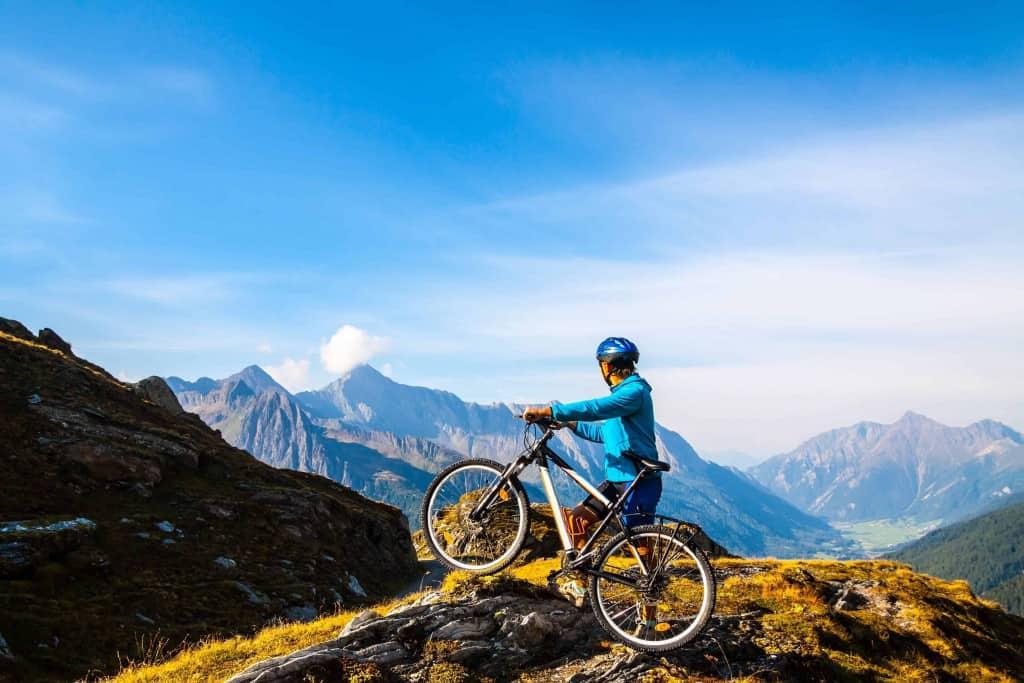 Go biking in the hills