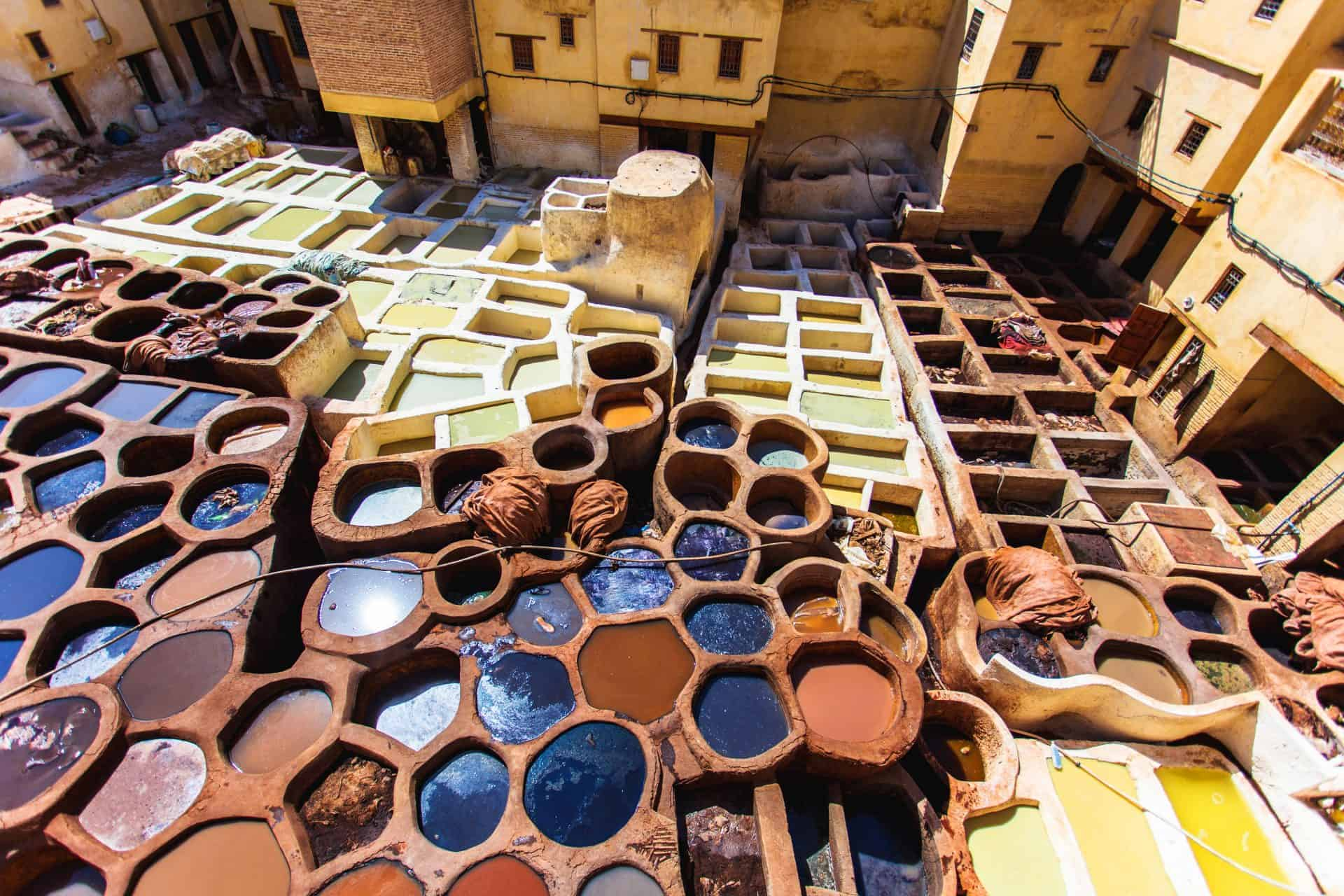 Visit the leather factories in Fez