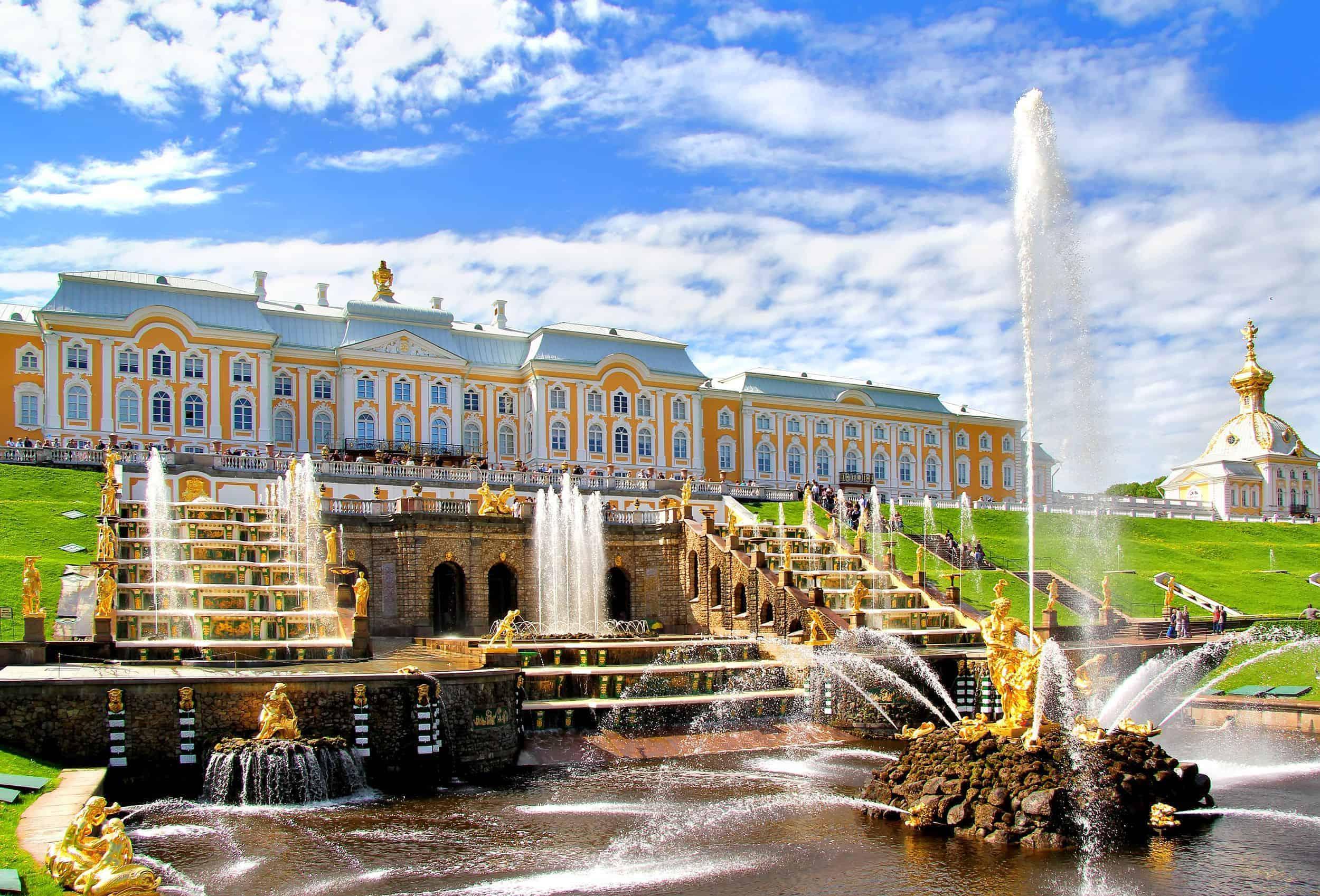 Samson Fountain of the Grand Cascade near Peterhof Palace, Russia