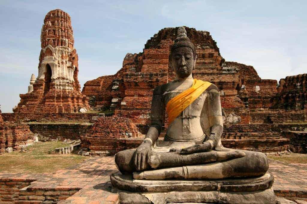 Monuments of buddah, ruins of Ayutthaya