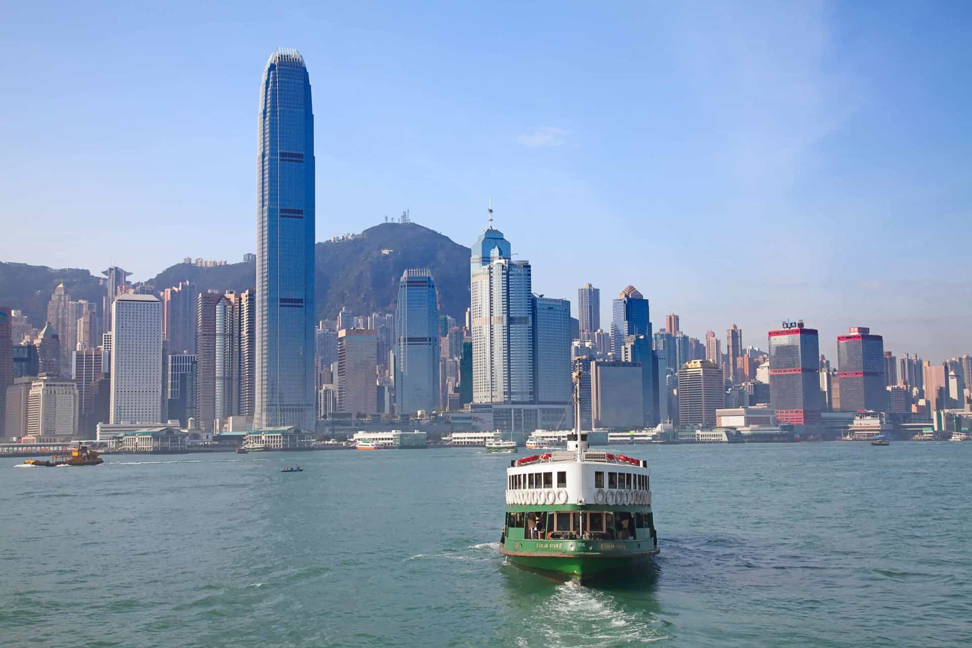 Hop on the Star Ferry to cross the harbor