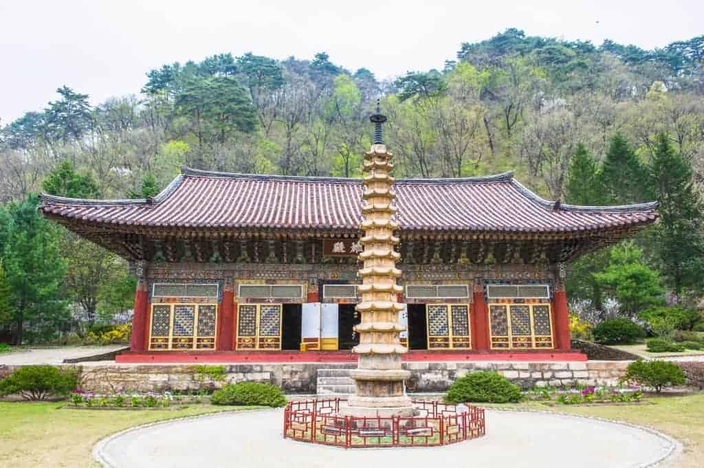 Pavillion at Pohyeon-sa in Myohyang-san, North Korea