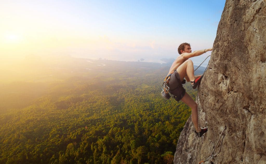 Take on a rock climbing expedition