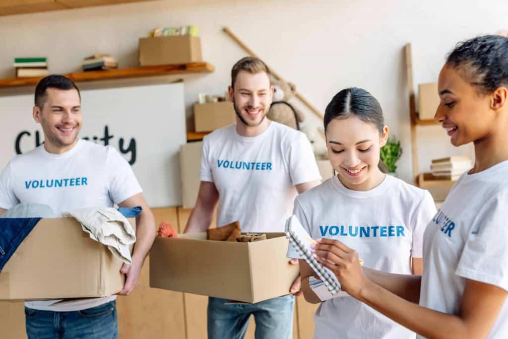 Volunteer to help