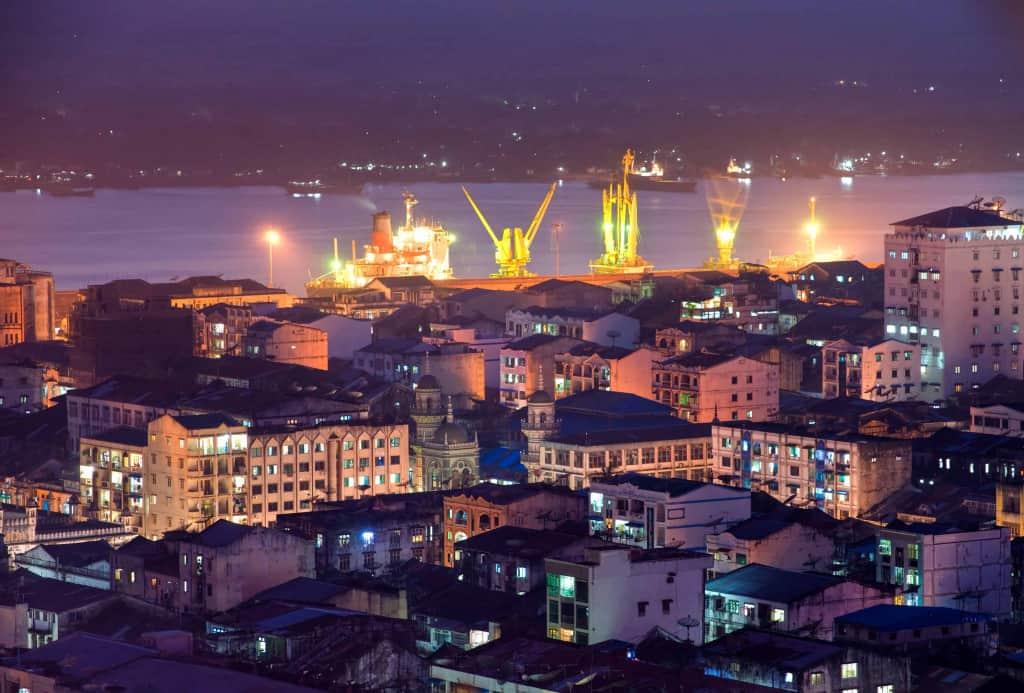 Rangoon at night