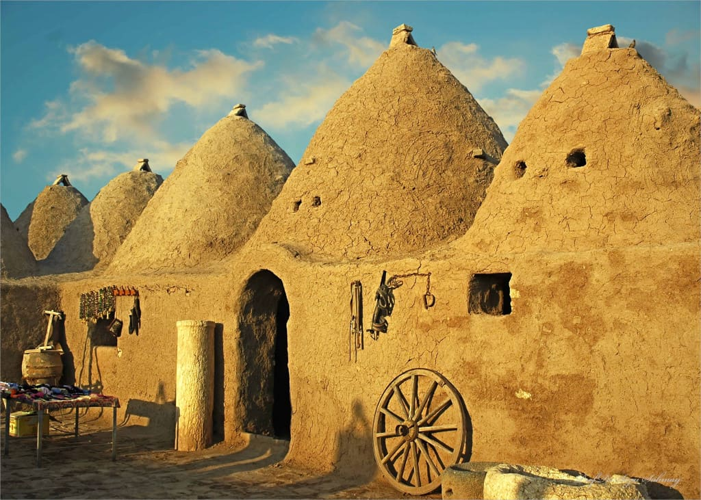 Beehive houses in Syria
