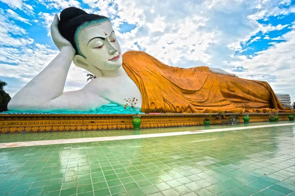 Giant sleeping Buddha