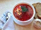 A traditional borscht dish