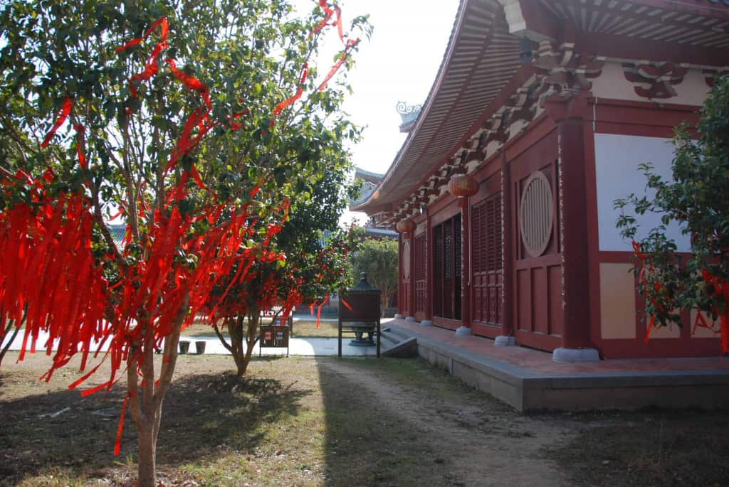 Streamers at a temple