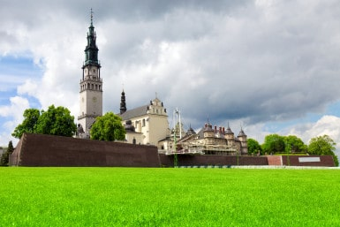The Jasna Gora sanctuary in Czestochowa, Poland is most important pilgrimage place