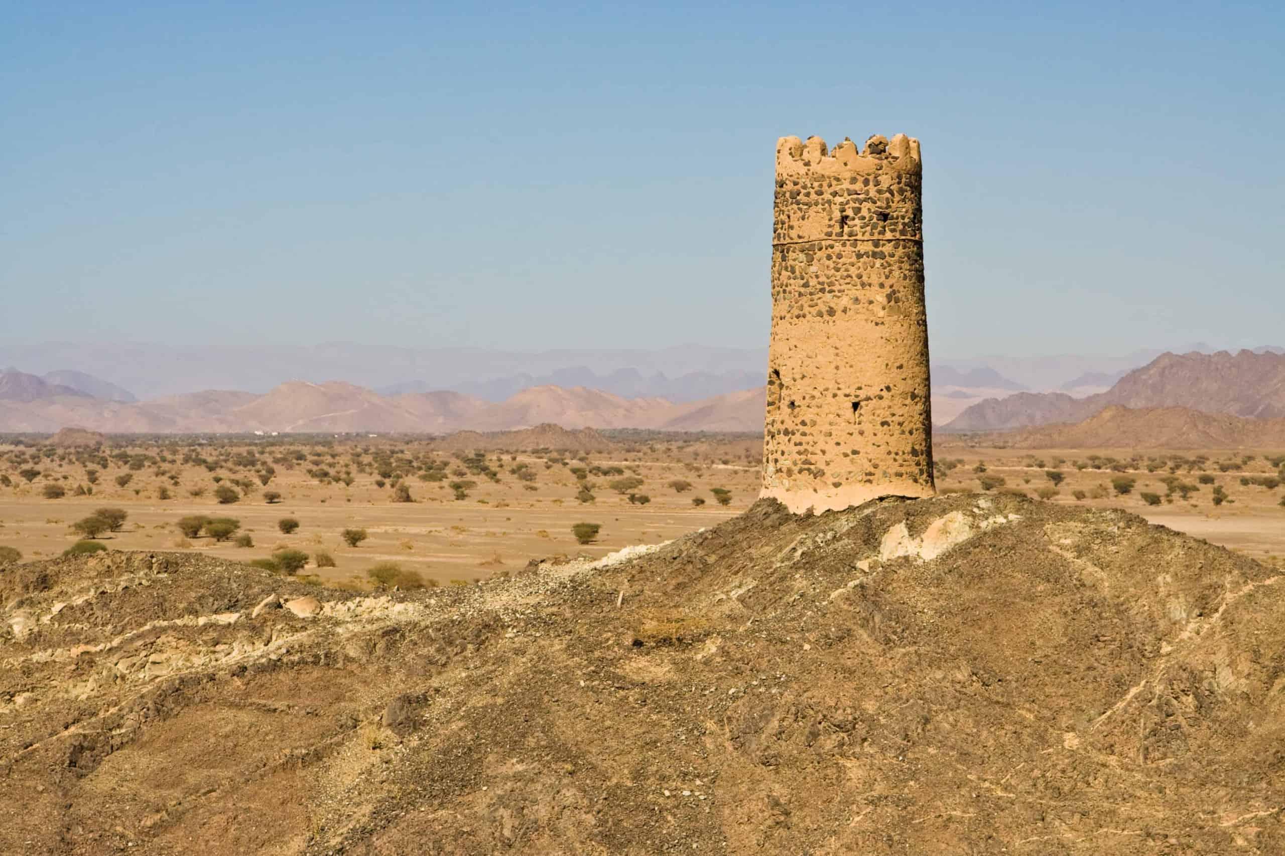 Ruins at Al Mudayribmountains, Oman
