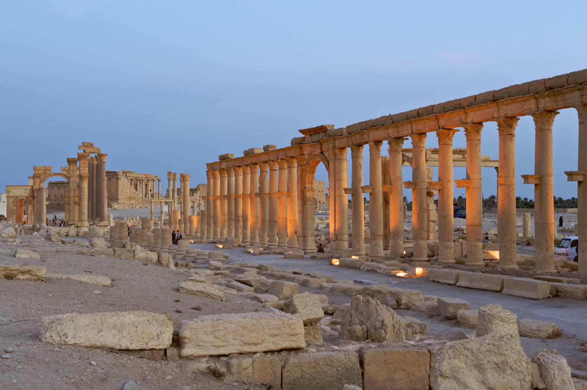 Ruins of a Roman temple in Palmyra