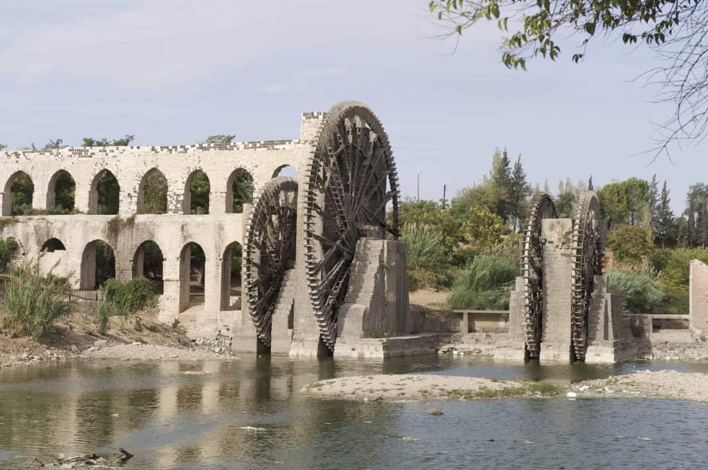Norias, or waterwheels, in Hama