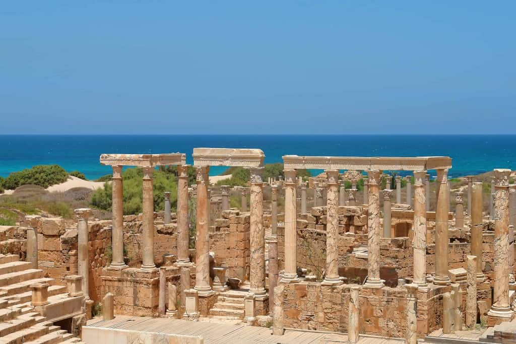 The Mediterranean Sea in Libya