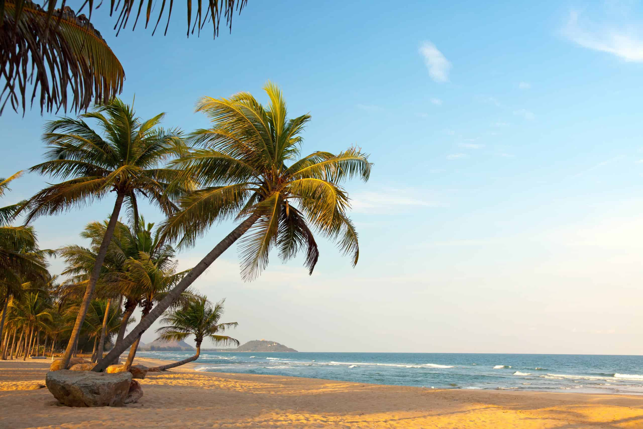 White sand beach in Togo