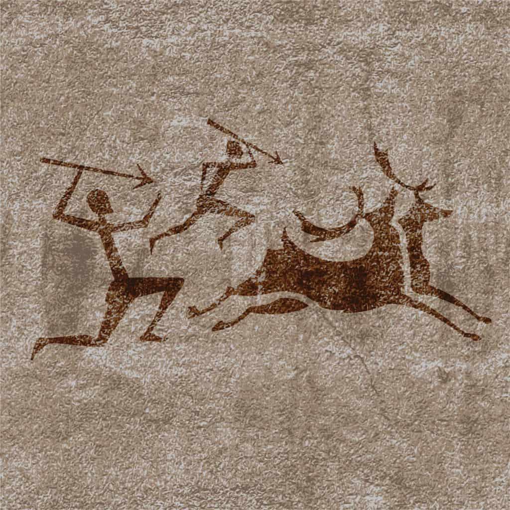 Men hunting ox, Tadrart Acacus