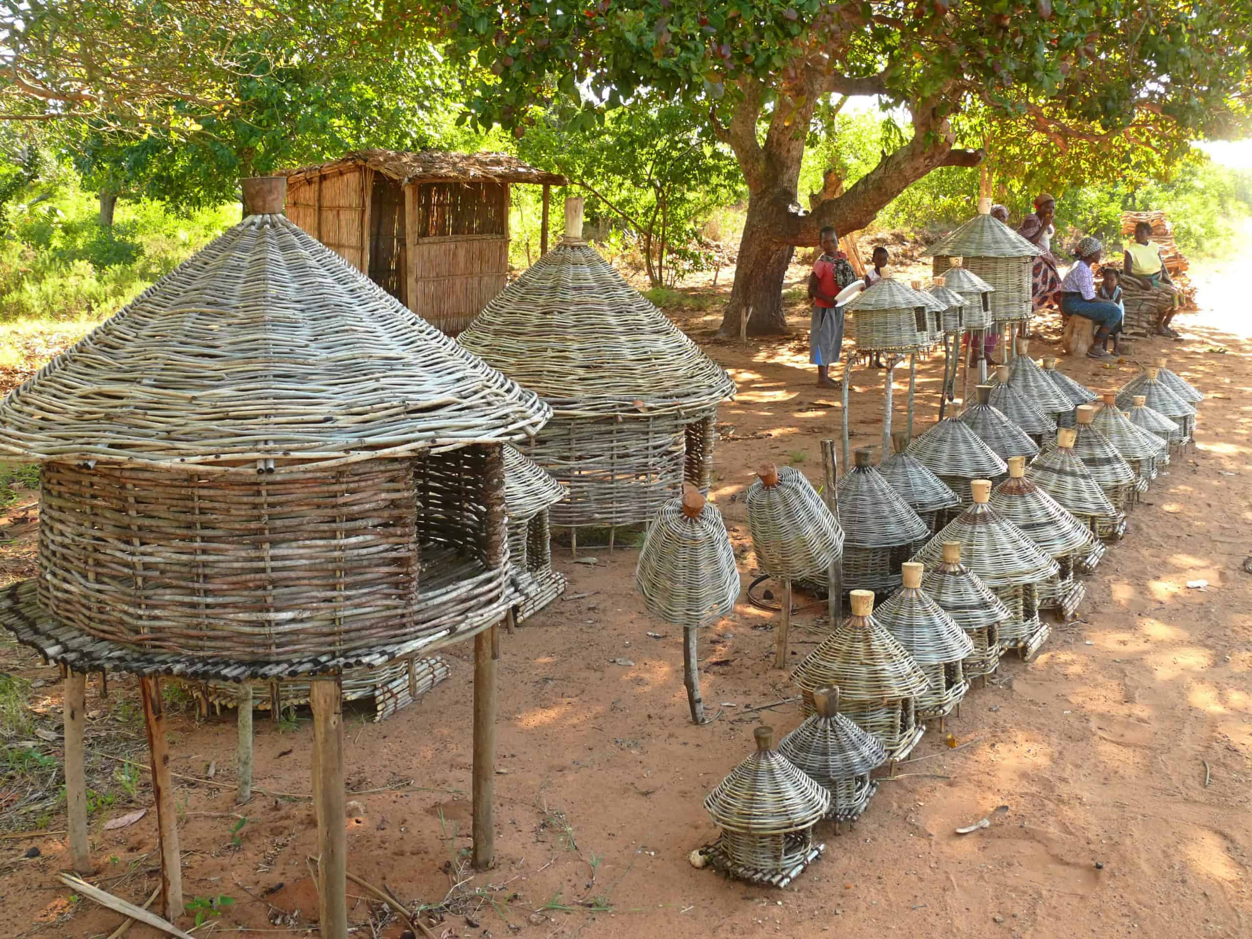 Houses made of sand and straw in Togoville