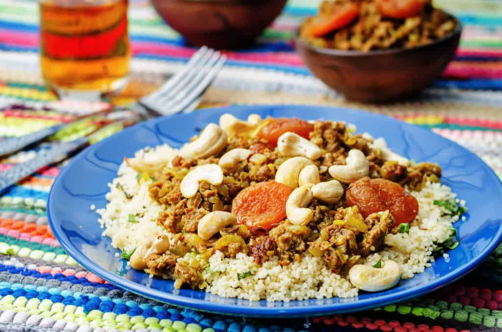 Lamb and apricot couscous