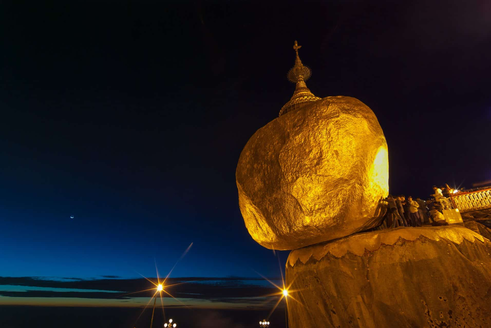 Golden Rock temple
