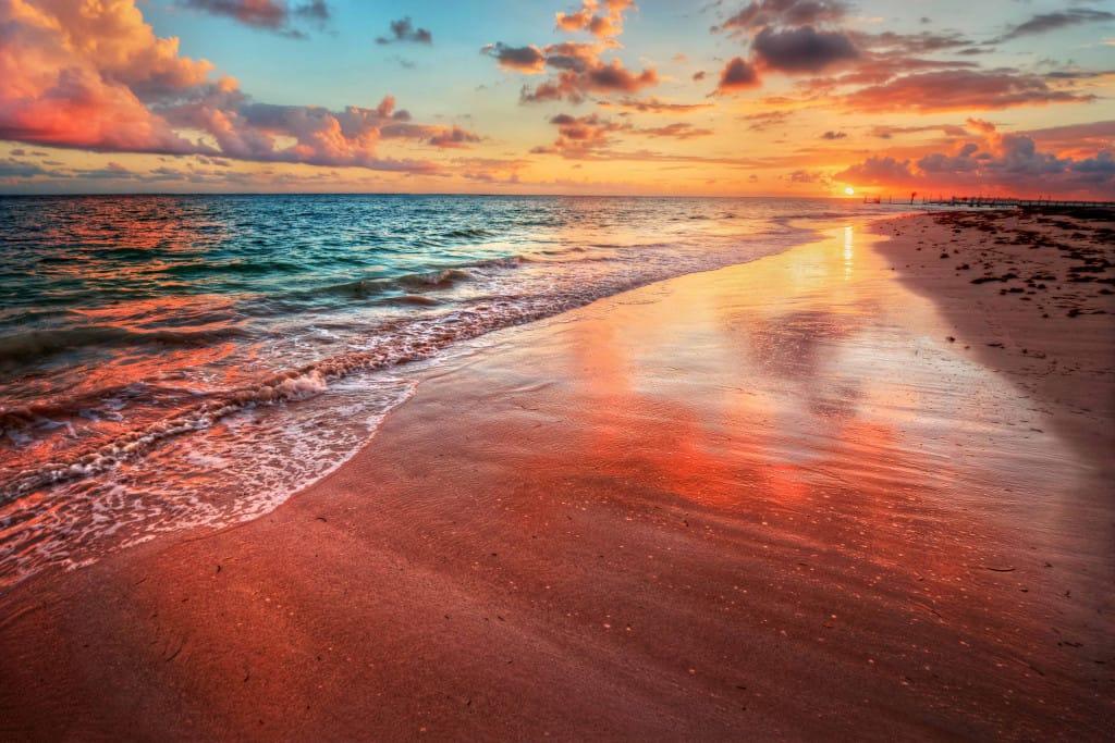 Sunset at Ngwe Saung Beach